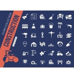 Construction icons collection vector
