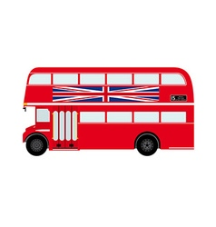Red london doubledecker bus with union jack vector