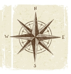 Hand drawn wind rose vector