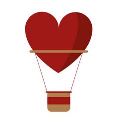 airballon heart love romantic classic vector image vector image