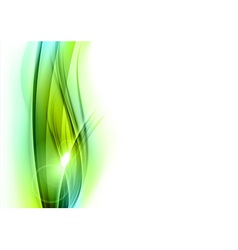 background green wave vhite vertical vector image vector image