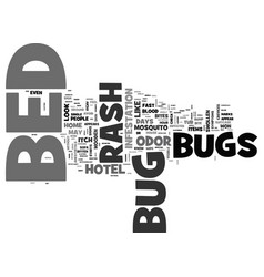 Bed bug rash text word cloud concept vector