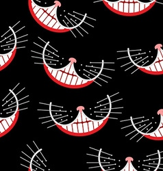 Cheshire cat Smile seamless pattern background vector image