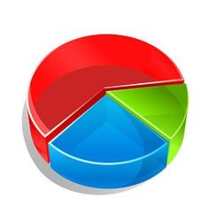 circle graph vector image