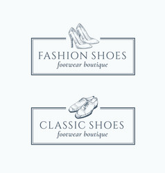 Classic fashion shoes footwear boutique abstract vector