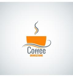 coffee cup menu background vector image vector image