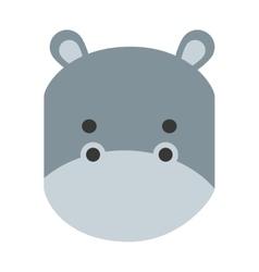 Cute hippo isolated icon design vector
