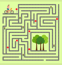 Find the right way through the maze vector