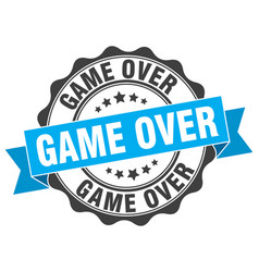 Game over stamp sign seal vector