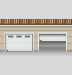 Garage lifting gates vector