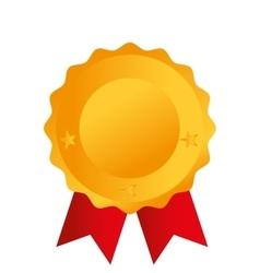 gold medal award icon vector image