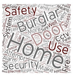 Home safety Tips text background wordcloud concept vector image