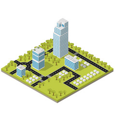 Landscape city in isometric vector