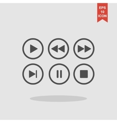 Media player buttons collection design vector image vector image