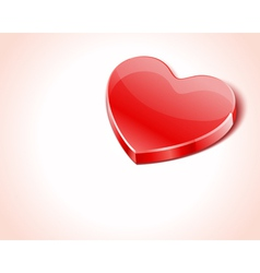 red shiny glass heart vector image vector image