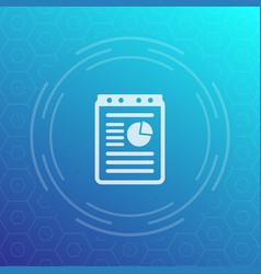 Report document icon vector