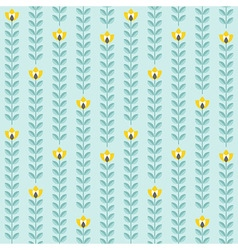 Retro floral pattern geometric seamless flowers vector image