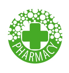 Round logo with pills to pharmacies vector