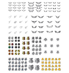 Shield wing art pack vector