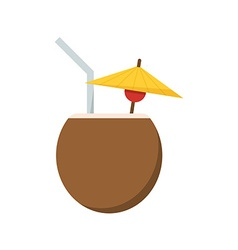 Summer cocktail drink icon vector