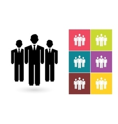 Team icon or business team symbol vector image vector image