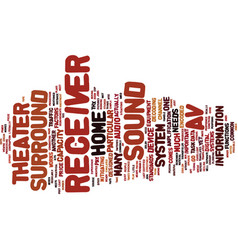 The av receiver text background word cloud concept vector