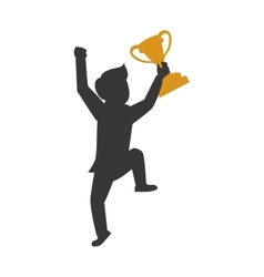 Trophy winner man male human competition icon vector