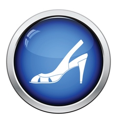 Woman heeled sandal icon vector image