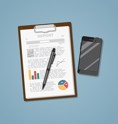 Notepad with phone vector