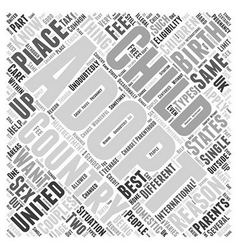 Adoptions Word Cloud Concept vector image