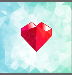 Abstract three-dimensional origami heart triangles vector