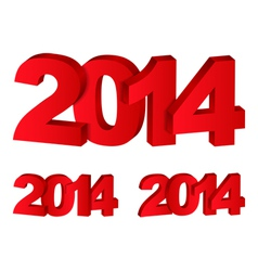 3D Number 2014 vector image