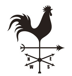 Weather vane vector
