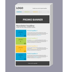 Newsletter 3d template with colors vector