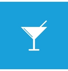 Martini glass icon white vector