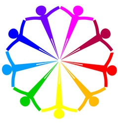 icon - people circle vector image