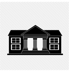 School building icon design vector