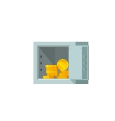 Open safe box with money vector