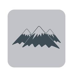 Mountain icon concept for design vector image