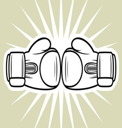 Boxing gloves3 vector