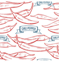 chile pepper seamless pattern vector image