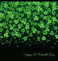 Clover background green vector