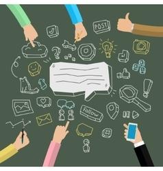 Concept of social network activity vector