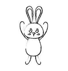 Cute bunny design vector
