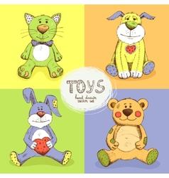 Cute stuffed animals vector