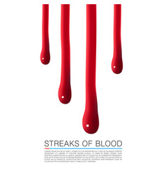 drops of blood running down vector image