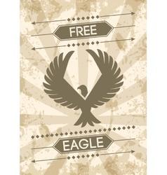 Eagle grunge poster vector
