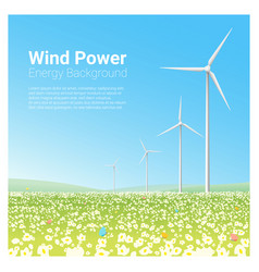 Energy concept background with wind turbine 2 vector