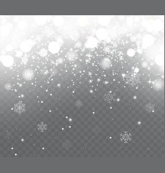 falling snow with snowflakes vector image