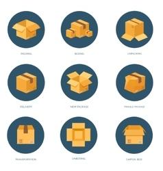 Flat carton box Transport vector image vector image
